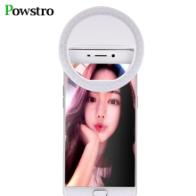 POWSTRO Universal LED Flash Light Up Selfie Luminous Lamp Phone Ring For iPhone SE 5 6 6S Plus LG Samsung HTC LG