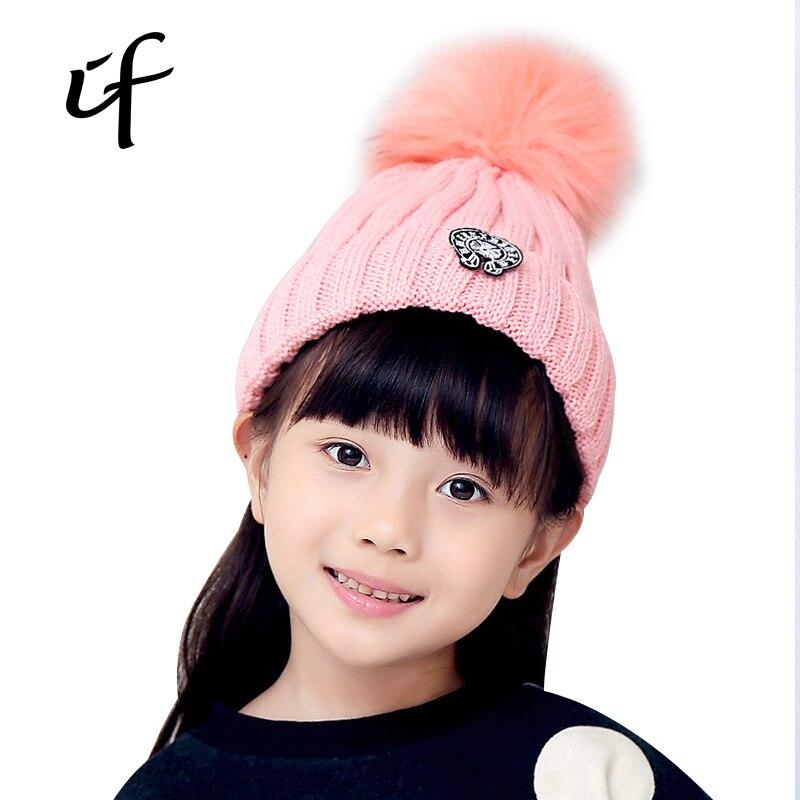 Circle Clock Childrens Thicken Pompom Winter Autumn Spring Shoe Ball Knitted Female Hat For Boys Girls knit Hats Caps BeaniesÎäåæäà è àêñåññóàðû<br><br><br>Aliexpress