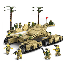Free Shipping Military Theme Building Blocks Mini Army Tank Car Model Assembled Bricks Toy for Children Kids Birthday Gift