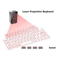 Virtual Keyboard Bluetooth Laser Projection Keyboard for Smartphone PC Tablet Laptop Computer English USB keyboard(China)