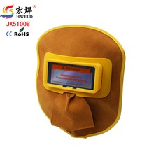 New Welder Eyes Mask Helmet Protable Leather Solar Auto Darkening Filter Lens Hood Helmet Mask Weld Cap Solar Charge Function(China)