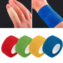 2pc Self-Adhering Bandage Wraps Elastic Adhesive First Aid Tape Stretch 2.5cm New protect badminton basketball football taekwond(China)
