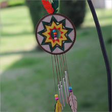 Easy Handmade Felt DIY Package National Style Wind Chimes Door Trim Ornaments For Bedroom Window Decor Fabric Material Package(China)