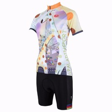 ILPALADINO Women's Cycling Jerseys Short Sleeve Animal Picture Riding Bike Clothing MTB Road Female Bicycle Wear