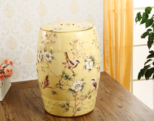 Beautiful Flower Bird Design Chinese Ceramic Garden Stools Seat Side Table