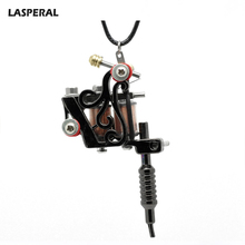 LASPERAL 1PC Gunmetal Mini Tattoo Machine Pendant Necklace Punk Rock Retro Charm Necklace Jewelry Gift For Women Men 2017 New