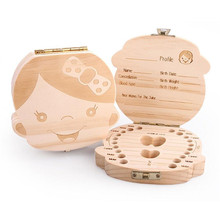 COCODE New Wood Tooth Box Organizer Save Milk Teeth Wood Storage Collecting Teeth Gifts Umbilical Cord Lanugo For Boy Girl V5234(China)