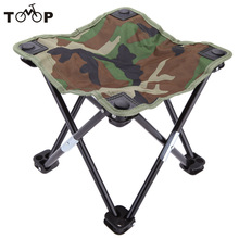 Camouflage Portable Folding Breathable Outdoor Camping Fishing Stool Chair Seat for Festival Picnic BBQ Beach 28 * 28 * 23cm