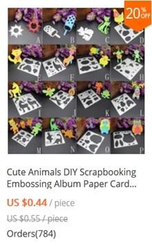 Cute animals and Transportation Silver Metal Die Cutting Dies Stencil For DIY Scrapbooking Album Paper Card Decor Craft