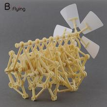 DIY Puzzle Wind Powered Walker Walking Strandbeest Assembly Powerful model Toy Children Gift Drop Shipping