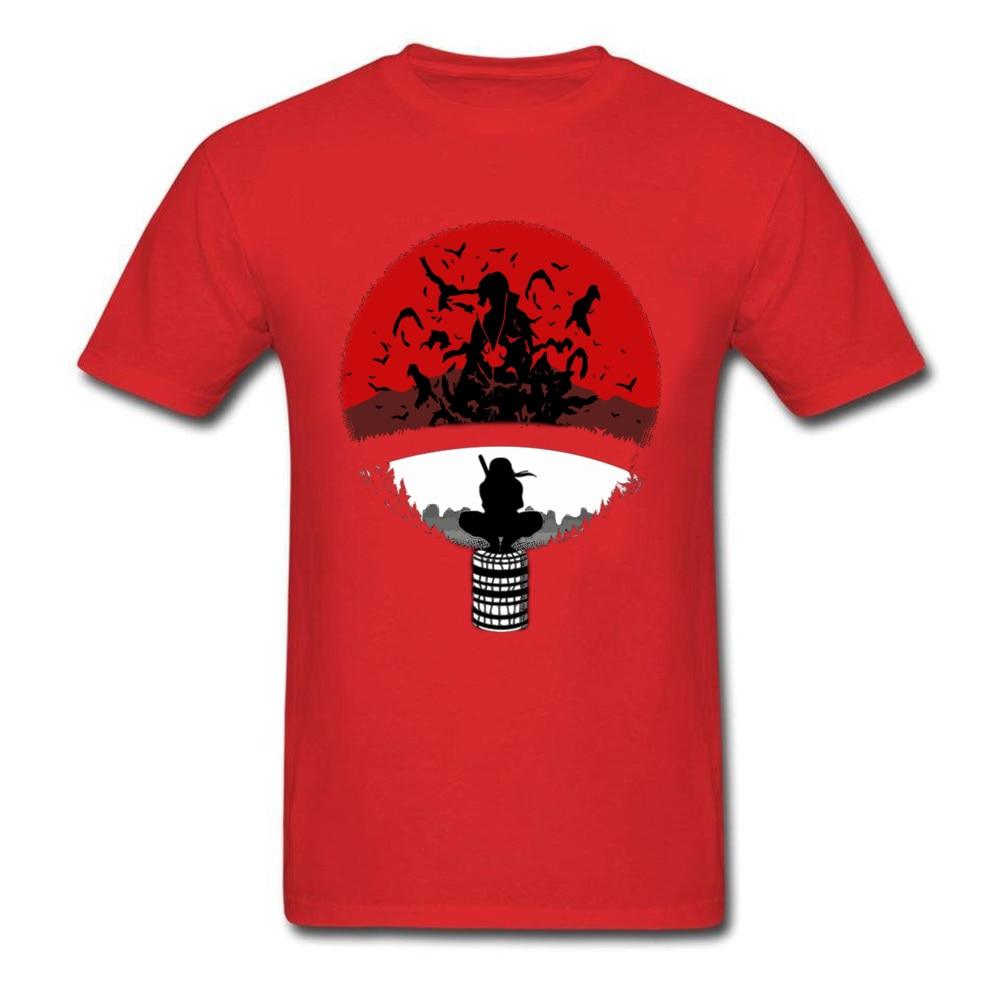 Itachi Uchiha Amazing Clan Round Collar T Shirt Father Day 3D Printed T Shirt Short Sleeve Popular 100% Cotton T Shirt Men's Itachi Uchiha Amazing Clan red