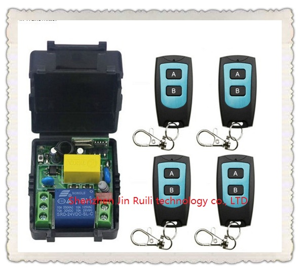 Universal AC220V 1CH 10A Remote Control Switch Relay Output Radio Receiver Module and 4&amp;Waterproof Transmitter Toggle Momentary<br><br>Aliexpress