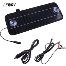 LEORY Hot 12V 4.5W Solar Panel Portable Monocrystalline Solar Charger Module For Car Automobile Boat Rechargeable Power Battery(China)