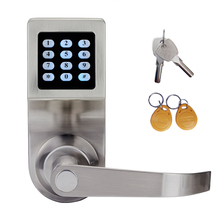 Electronic Door Lock Code, 2 ID Cards, 2 Mechanical Keys Digital Password Lock Keyless lk801BS