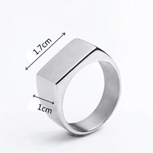 316L Stainless Steel Men's Bar Custom Engraved Name Ring Personalized Initial Ring eBay Amazon Supplier