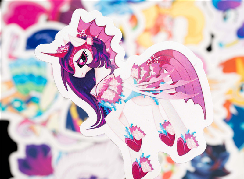 31PCS Cute Cartoon Sticker Set For Children Travel Case Bicycle Fridge Laptop Kid Toy Anime Stickers Little Pony Sticker (9)