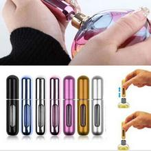 New 5ml Refillable Portable Mini Empty Perfume Atomizer Bottle Travel Scent Pump Spray Case Hot Sale airless pump bottles