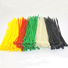 "500 PCS Pack 8"" inch 3.6x200mm Black White Red Green Yellow Blue Network Cable Cord Wire Tie Strap 40 Lbs Zip Nylon(China)"