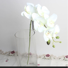Artificial Butterfly Orchid Silk Flower Floral Bouquet Phalaenopsis Home Garden Wedding Party Decorations 6 Colors