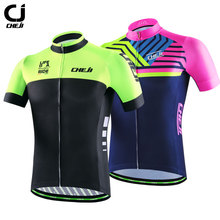 CheJi Mens Pro Cycling Team Jersey Breathable Quick Dry Bike Jersey Tops Sports Shirts Black Green Custom jersey ciclismo 2017
