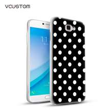 2017 popular flower and lattice white hard cases for Samsung Galaxy A5 2016 A5100 phone cases(China)