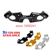 Front Fork Lowering Triple Tree Upper Top Clamp Yoke for Suzuki Hayabusa GSX1300R ABS 2008 - 2017 2010 2012 2014 2016 GSX 1300R(China)