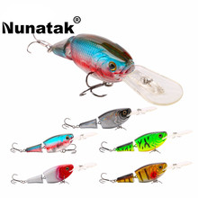 Nunatak Articulated Sections 5 units / lot Swimbait Lure 70mm 10g 0-1.5 M Wobblers Crankbait Hard Crank Crank Fishing Lures