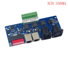 best price 1 pcs DC 12-24V constant current 350ma 3 channel DMX512 decoder(China)