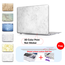 Marble Ceramic Tile Laptop Computer Bag Case For Mac Apple Macbook Pro 15 For Macbook 12 Retina + Silicone Keyboard Cover
