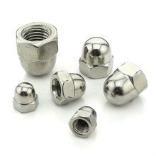10PCS-M4/M5/M6  2PCS-M8/M10/M12  DIN1587 316 Stainless Steel Cap Nut Round Head Cover Decorative Nut