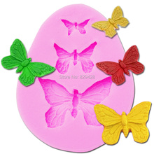 Milkmico M022 3D Silicone Mold Butterfly Shapes Mould 3 Cavities For Soap Candy Chocolate Ice cake Tools