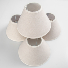 E14 E12 Chandelier Lamp Shades, Hardback Candle Cotton Linen Lampshade, 8 inch, set of 4(China)