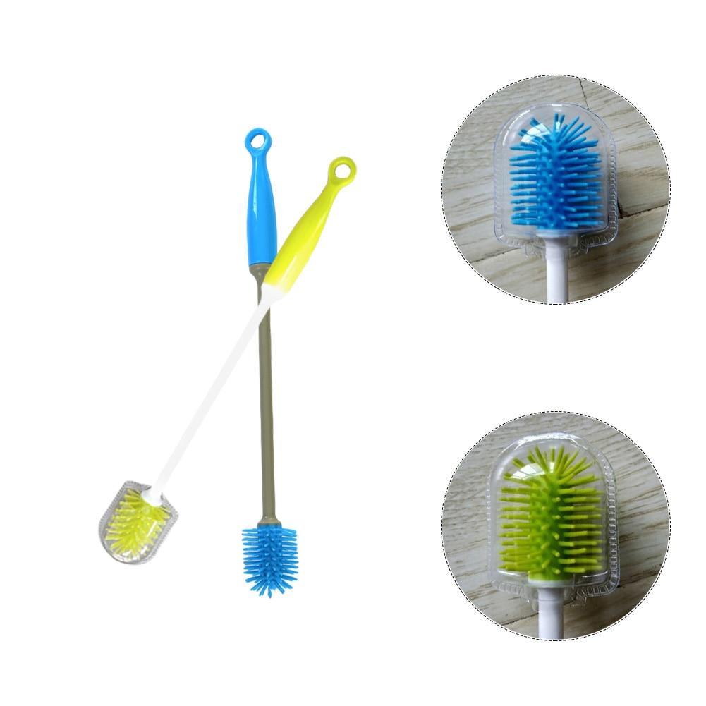 Cooperative Portable Milk Bottle Cleaning Brush Cup Brush 360 Degree Washing Brush Horloges