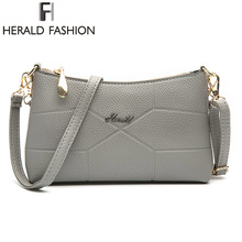 Herald Fashion Brand New Women Shoulder Bag Casual PU Leather Messenger Bag Famous Designer Crossbody Bag For Ladies Fashion Bag(China)