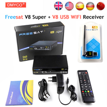 [Genuine] 10pcs Freesat V8 Super & USB Wifi DVB-S2 Satellite TV Receiver Support PowerVu Biss Key Cccamd Newcamd Youtube Youporn(China)