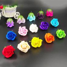 10pcs Soap rose head Romantic wedding valentine ornament Home decoration Gift  Party Lover's Birthday Gift Flower 45