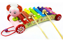 Children's music toy lamb octave hand knock piano xylophone can drag puzzle 0-3 years old baby educational toys