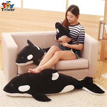 Simulation Marine Animal Plush Black Killer Whale Toy Stuffed Doll Pillow Baby Kids Children Birthday Gift Home Decor Triver