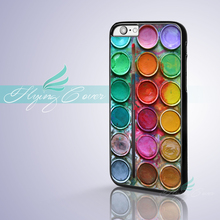 Coque Colors Paint Box Set Palette Phone Cases for iPhone X 8 8Plus 7 6S 6 7 Plus 5S SE 5C 5 4S 4 Case for iPod Touch 6 5 Cover.(China)