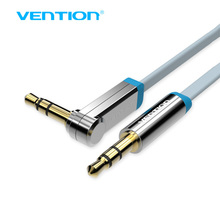 Vention Aux Cable Jack To Jack 3.5mm 90 Degree Right Angle Flat Audio Cable For Car iPhone Headphone Beats Speaker Aux Cord MP3