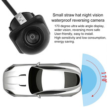 CarCamera Rear View Parking Security Waterproof 170 Degree Flexible Wide Night Vision  Black Color Small Camera