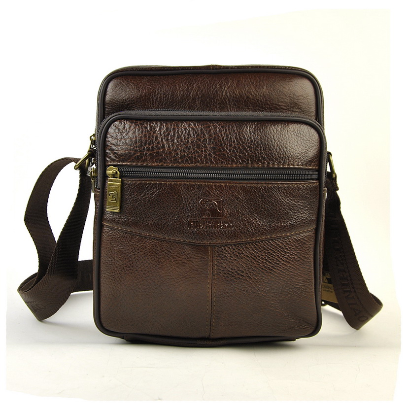 Mens Genuine Leather Messenger Bag Crossbody Shoulder Satchel For Men Business Fashion Casual Designer Classic 5 Zip Work Bags<br>