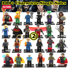 Kaygoo Single Sale Individually Sale Marvel  Avengers Iron Man Batman Red Hood Cat Woman Vision Building Blocks Sets Model Toys