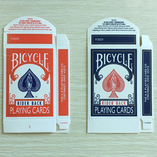 Bicycle Card Empty Box 50pcs Red or Blue Available Close Up Magic Accessory Card Magic prop for Magician use without teach video(China)
