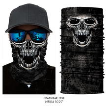 3D Seamless Headband Skull Skeleton Balaclava Tube Neck Scarf Face Mask Motorcycle Bicycle Snowboard Tactical Military Bandana