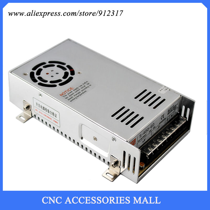 S-400-60 60V 400W 6.6A switching power supply for cnc router<br>