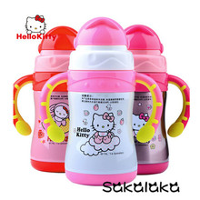 220ml Hello Kitty stainless steel vacuum bottle suction bottle insulation Baby Trainer bottle