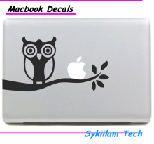 Glass Owl on Night Cartoon Sticker for Apple Macbook Skin Air 11 13 Pro 13 15 17 Retina Laptop Auto Wall Vinyl Logo Decal