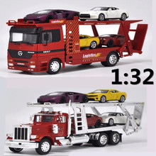 1:32 Alloy engineering trailers,Kenworth trailer, 4PC 1: 43 alloy car,truck Transporter,Advanced model,free shipping