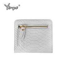 YBYT brand 2017 new fashion simple serpentine zipper short purse hotsale ladies PU leather coin purses card pack women wallet